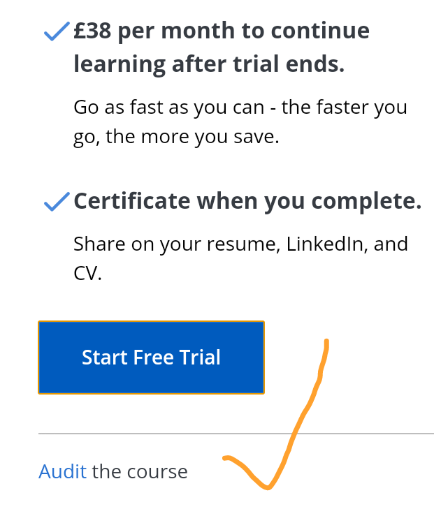 Does audit mode still exist? | Coursera Community