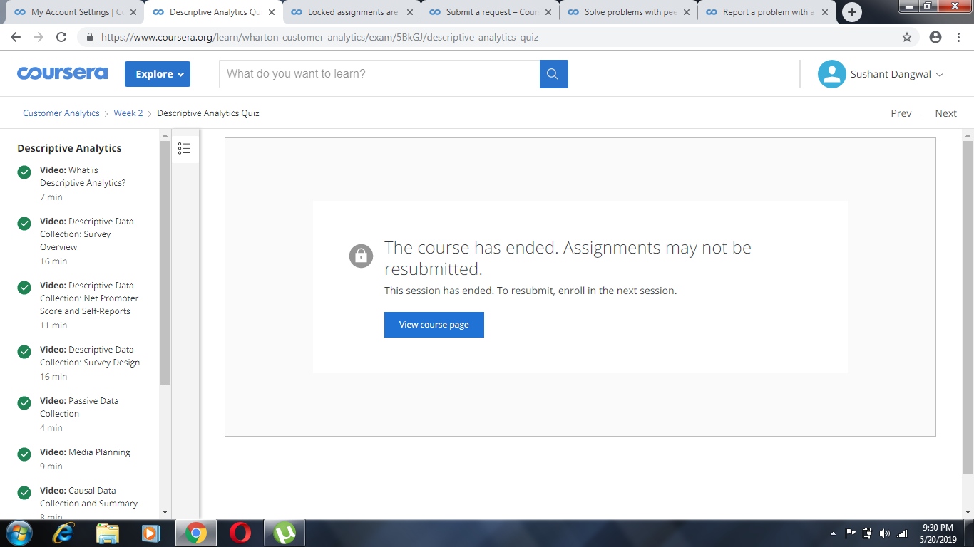 Locked assignments are really annoying  | Coursera Community