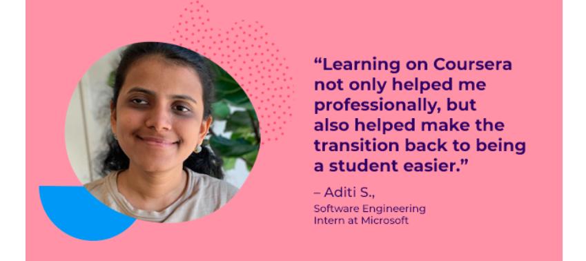 Using Coursera to study cybersecurity: Aditi's story