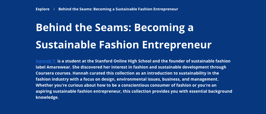 Behind the Seams: Becoming a Sustainable Fashion Entrepreneur