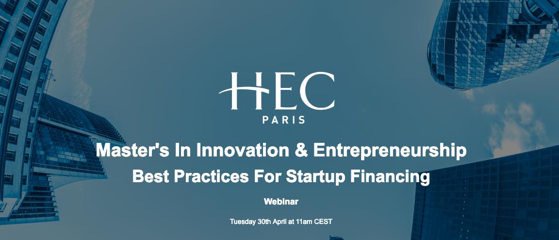 Master's in Innovation & Entrepreneurship Best Practices for Startup Financing