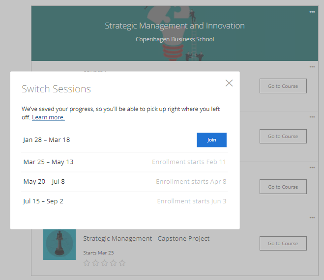Technical issue in switching session | Coursera Community