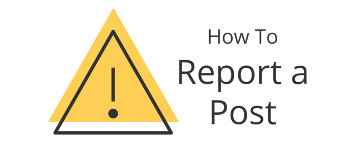 How to report a post