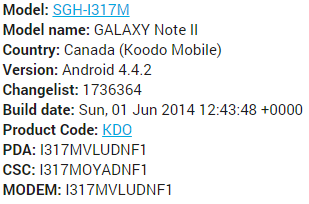 Where can I download the latest firmware (Koodo version) for