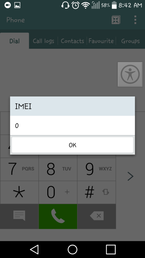 imei number showing '0' in my LG G3 phone  | Koodo Community