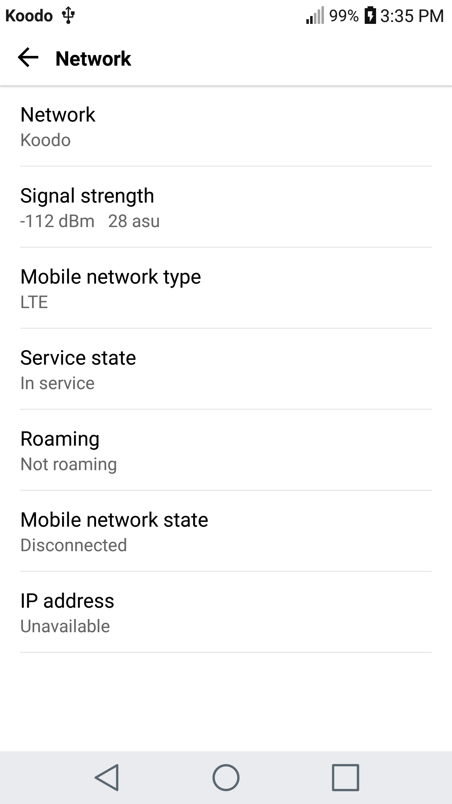 Lg V20 Service Disabled
