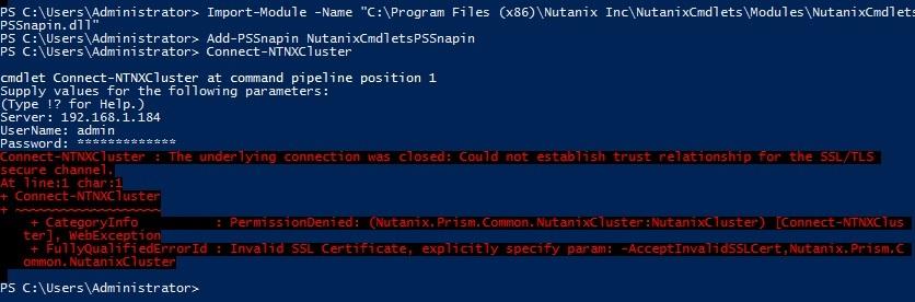 Using Nutanix Powershell commandlets download?   Nutanix Community