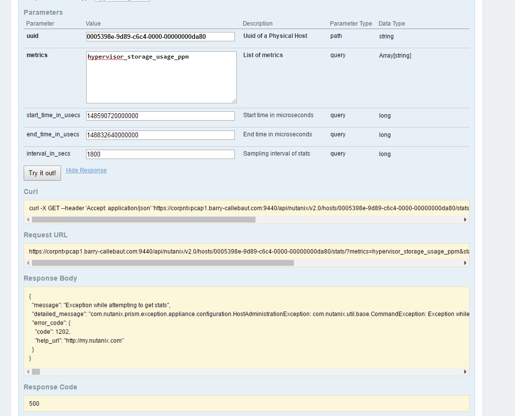 Analysis tab data export question | Nutanix Community
