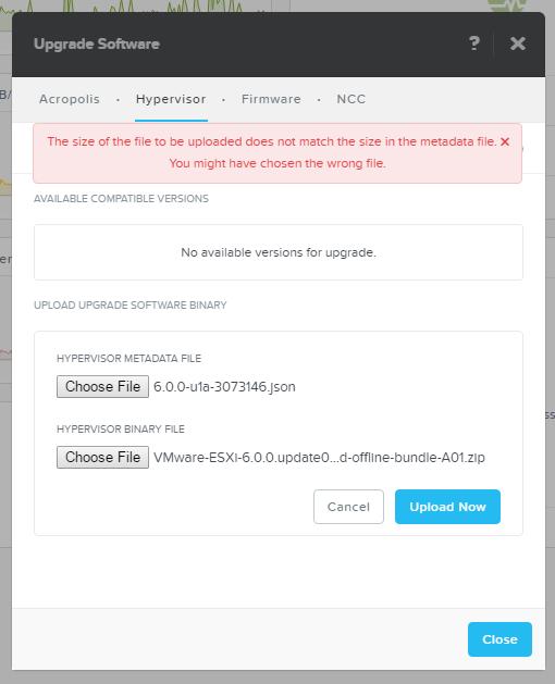 Hypervisor update (ESXi) | Nutanix Community