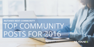 Top 7 Blog Posts from The NEXT Community for 2016