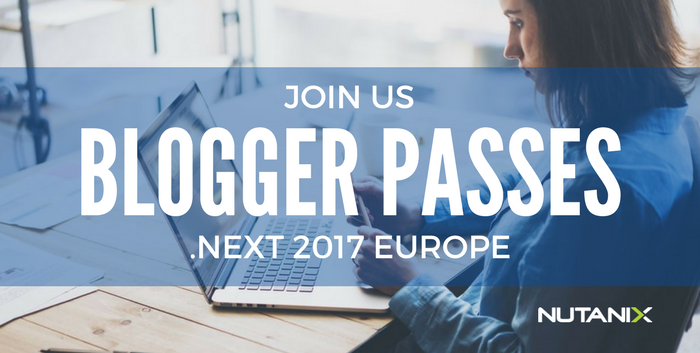 Blogger Passes Available for .NEXT Europe 2017