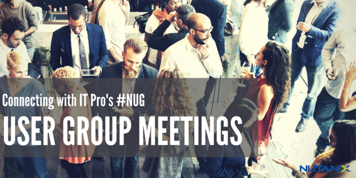 Upcoming User Group Meetings - October 2017