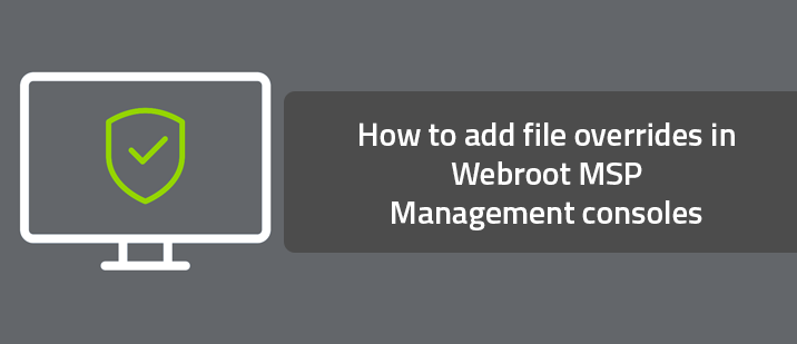 How to add file overrides in Webroot MSP Management consoles