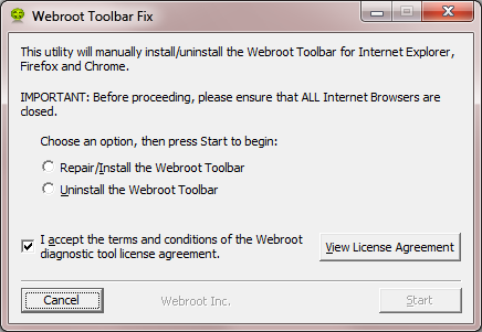 icon missing from toolbar | Webroot Community