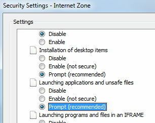 how do I change security settings to allow PDF download ? webroot