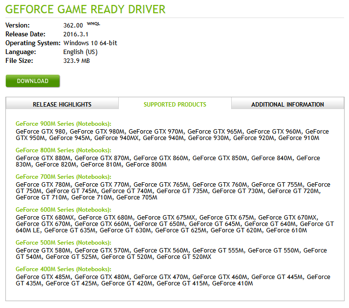 nVIDIA GeForce Game Ready Driver 364 47 | Webroot Community