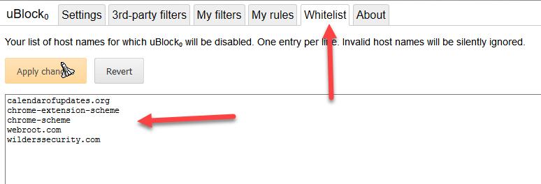 U Block update settings?   Webroot Community
