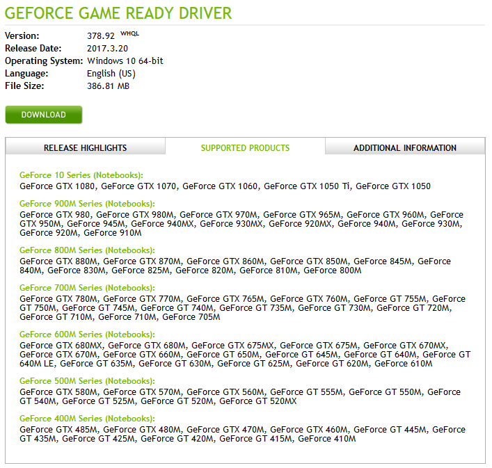 NVIDIA GeForce Game Ready Driver 378 92 | Webroot Community
