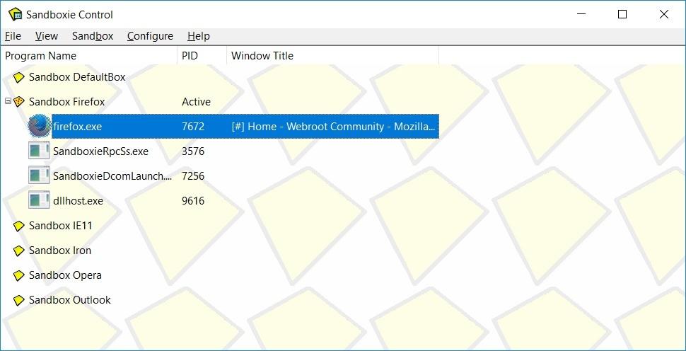 Webroot + Sandboxie + Firefox 64bit  | Webroot Community