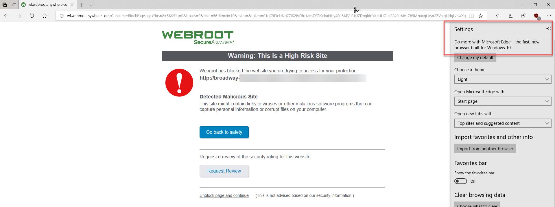 Microsoft Edge for Windows 10 | Webroot Community