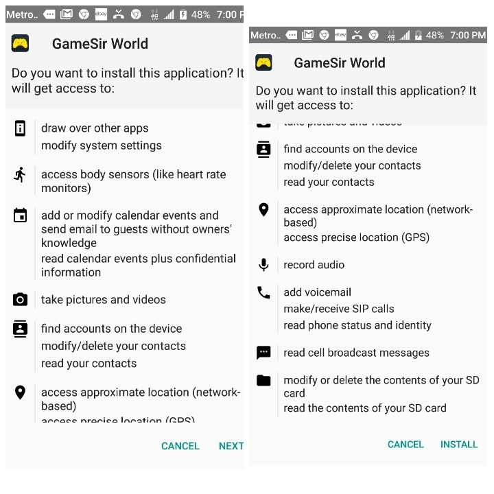 Game app wants permission to be virus? | Webroot Community