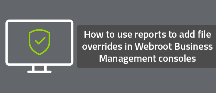 How to use reports to add file overrides in Webroot Business Management consoles