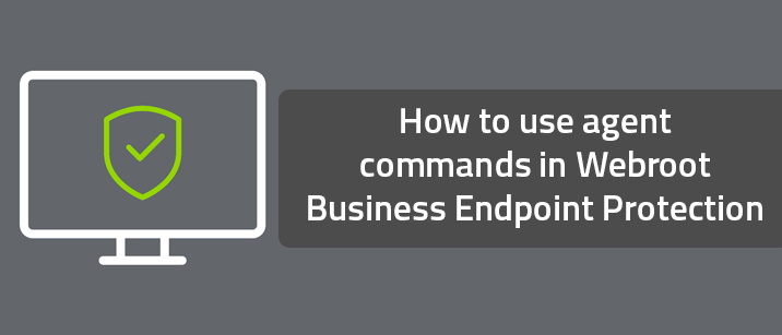 How to use agent commands in Webroot Business Endpoint Protection