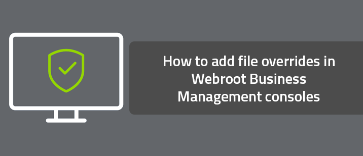 How to add file overrides in Webroot Business Management consoles