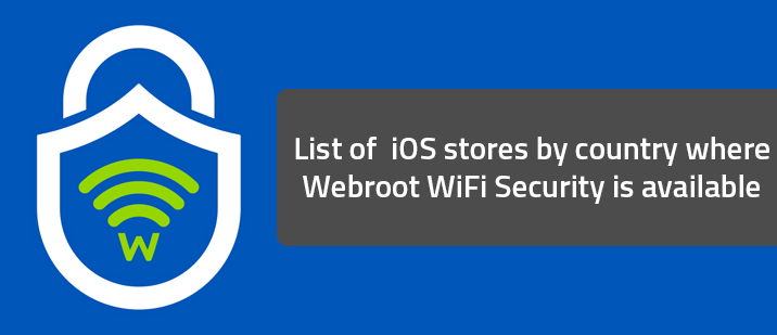 Webroot WiFi Security app is available in the iOS store for