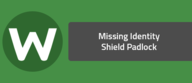 Missing Identity Shield Padlock