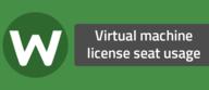 Virtual machine license seat usage