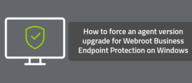How to force an agent version upgrade for Webroot Business Endpoint Protection on Windows