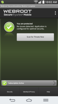 Webroot SecureAnywhere Mobile Complete / Network Monitor