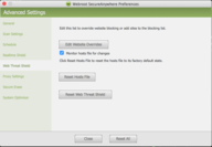Mac - Changing Web Threat Shield Settings