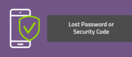 Lost Password or Security Code
