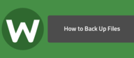 How to Back Up Files