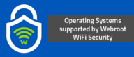Operating Systems supported by Webroot WiFi Security