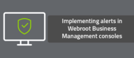 Implementing alerts in Webroot Business Management consoles