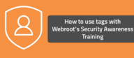 How to use tags with Webroot's Security Awareness Training