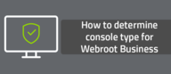 How to determine console type for Webroot Business