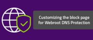 Customizing the block page for Webroot DNS Protection