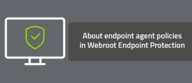 About endpoint agent policies in Webroot Endpoint Protection
