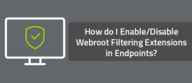 How do I Enable/Disable Webroot Filtering Extensions in Endpoints?