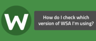 How do I check which version of WSA I'm using?