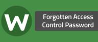 Forgotten Access Control Password
