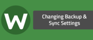 Changing Backup & Sync Settings