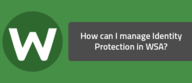 How can I manage Identity Protection in WSA?
