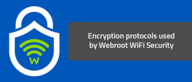 Encryption protocols used by Webroot WiFi Security
