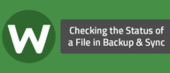 Checking the Status of a File in Backup & Sync