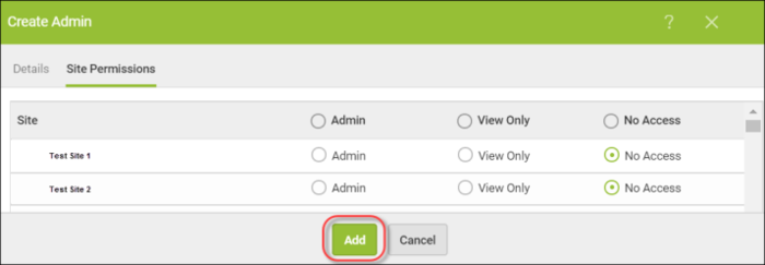 How to add new admins to the Global Site Manager (GSM) console